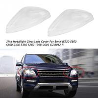 2 шт фара Прозрачная крышка объектива для Benz W220 S600 S500 S320 S350 S280 1998 1999 2000 2001 2002 2003 2004 2005