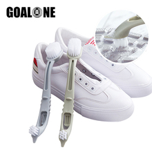 GOALONE Shoes Cleaning Brush 3 in 1 Multifunctional Double Head Tennis Sneaker Cleaner Portable Long Handle