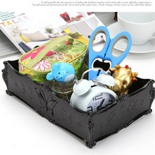 Multifunctional Rectangular middle butterfly jewelry box Table Storage 24.5*16.5*8CM free shipping