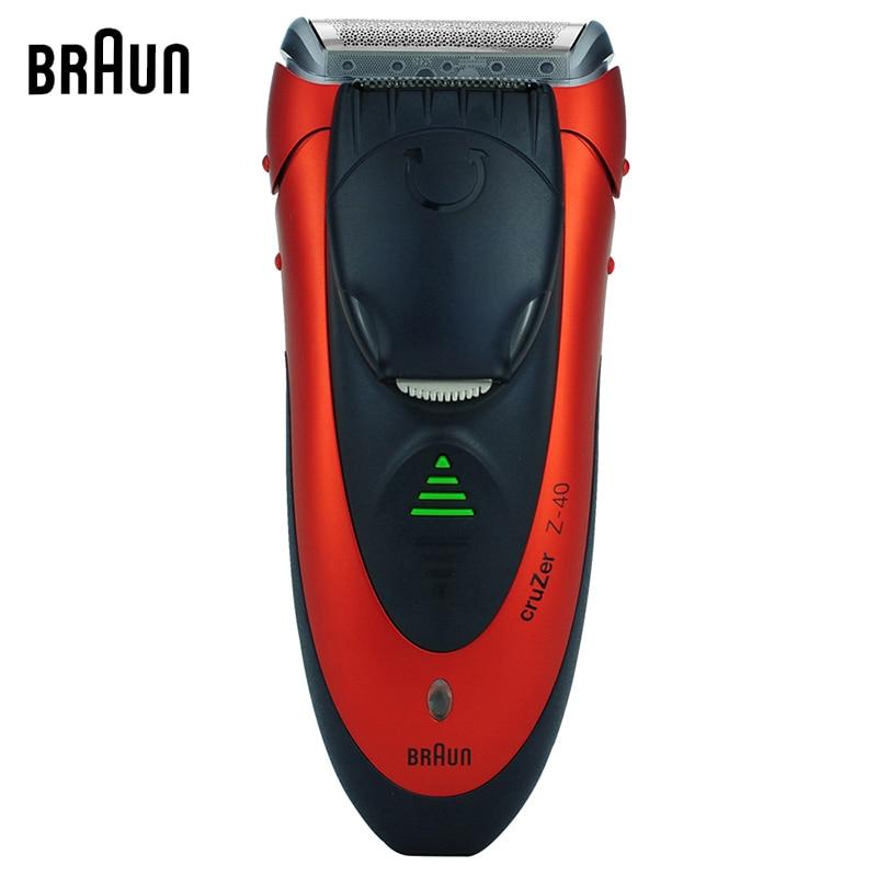 Braun Electric Shavers Cruzer 40 Face Care Washable Razors For Men Shaving Safety Razors braun cruzer 5 beard