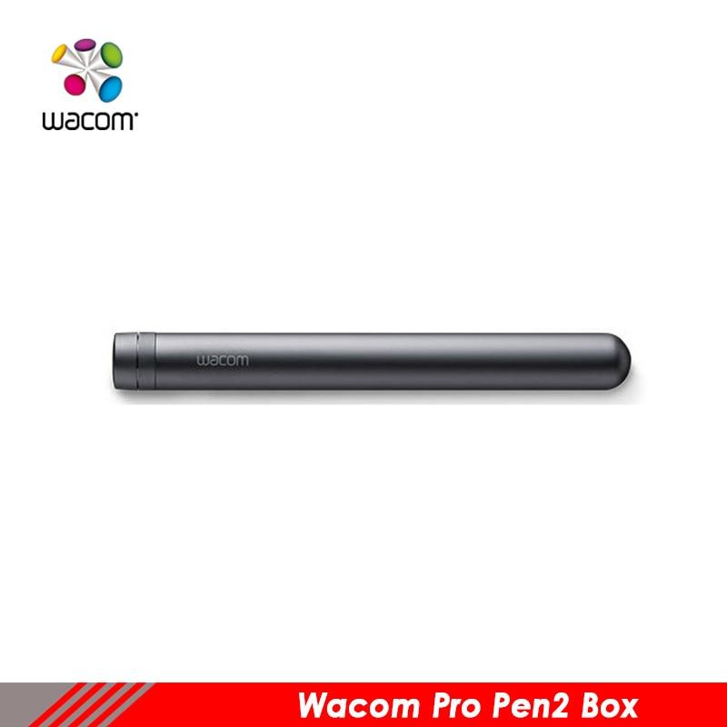 Étui à stylo original wacom pro pen2 boîte appliquer cintiq dth1320/1620 intuos pro pth660/860
