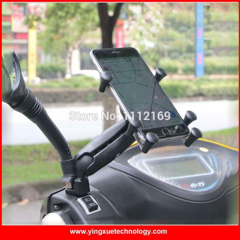 Мотоциклов мопедов зеркало заднего вида крепления сотового телефона держателя для 4-6 дюймов Экран смартфонов с 1 дюймов мяч