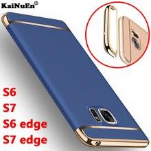 Kainuen Роскошные противоударный Броня Жесткий пластик задняя панель, крышка, чехол для Samsung Galaxy S6 S7 Edge Plus Аксессуары для телефонных чехлов