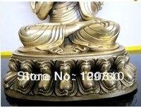 00409 Tibetan Tsongkhapa bronze buddha statue