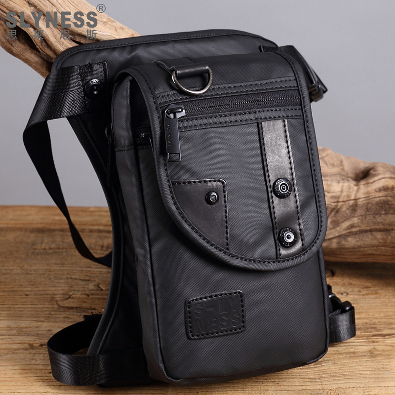 New Fashion Men Waist Pack Oxford Waterproof Design Casual Waist Bag Military Leg Bag Motorcycle Thigh Pocket Breathable Comfort