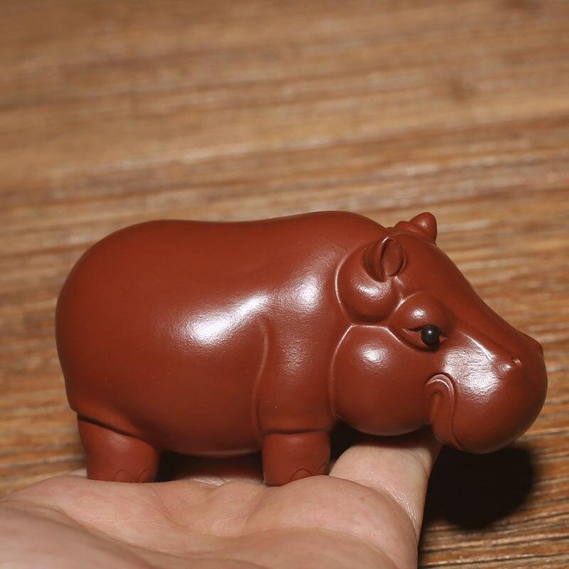 Чисто ручной Фиолетовый речной песок лошадь чай Pet Украшения Бутик Исин чай животное Украшения