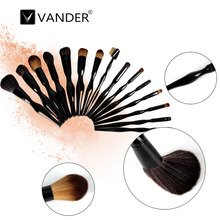 Hot 15pcs/set Makeup Brush Human Body Curve Foundation Soft Eyeshadow Blusher Powder Blending Cosmetic Brush Kit Tool