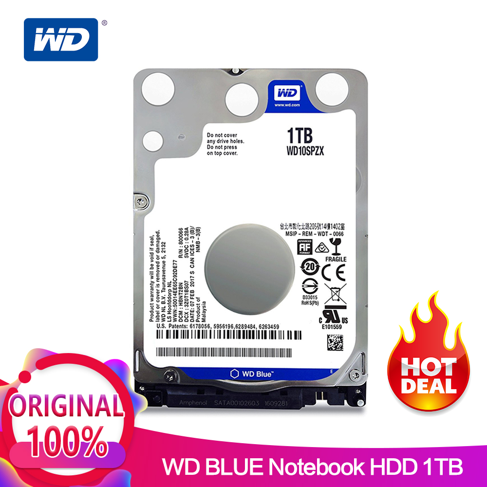 все цены на WD Blue 1TB Mobile Hard Disk Drive - 5400 RPM SATA 6Gb/s 128MB Cache 2.5 Inch WD10SPZX онлайн