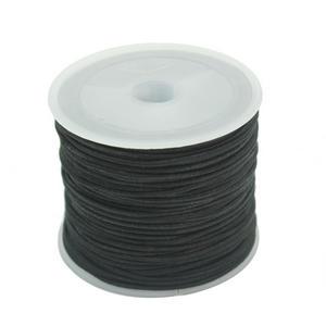 1 рулон черный 1 мм DIY Эластичная лента Нитки шнур Провода Бусины нанизывая Изготовление ювелирных изделий для браслета Ожерелья для мужчин