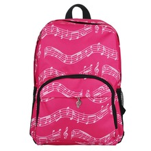 4 Colors Musical Note Oxford School Bags Casual Backpacks For Adolescent Girls ZX344001