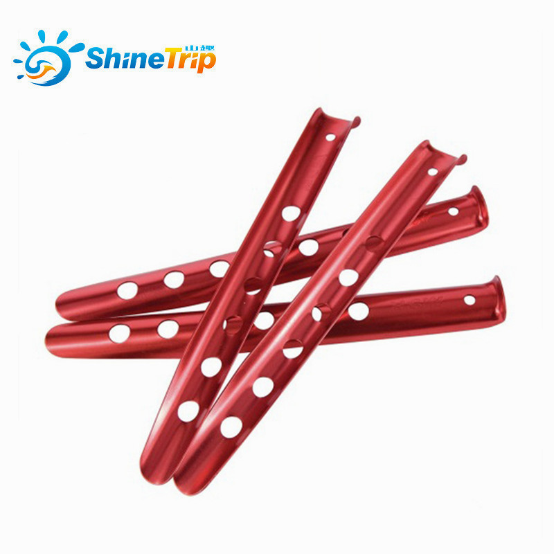 ShineTrip 23cm 31cm  Aluminum U-Shaped Tent Nail Tent Stakes Snow Peg Sand Peg For Outdoor Camping Hiking Beach Tent Accessories