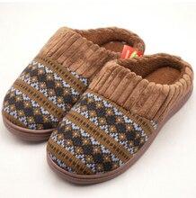 Commerce extérieur européen chaud épais coton laine pantoufles