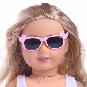 Bowknot Frame Fashion Glasses Fit For  Doll 18 inch  Accessories