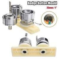 DIY Badge Pin Making Mould PRO Button Maker Punch Press Machine Tool 1'' 25mm