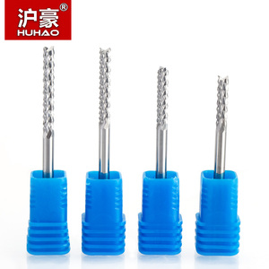 Image 3 - HUHAO 1pcs 3.175mm 4mm 6mm Carbide Tungsten Corn Cutter cutting PCB milling bits end mill CNC router bits for  Engraving machine