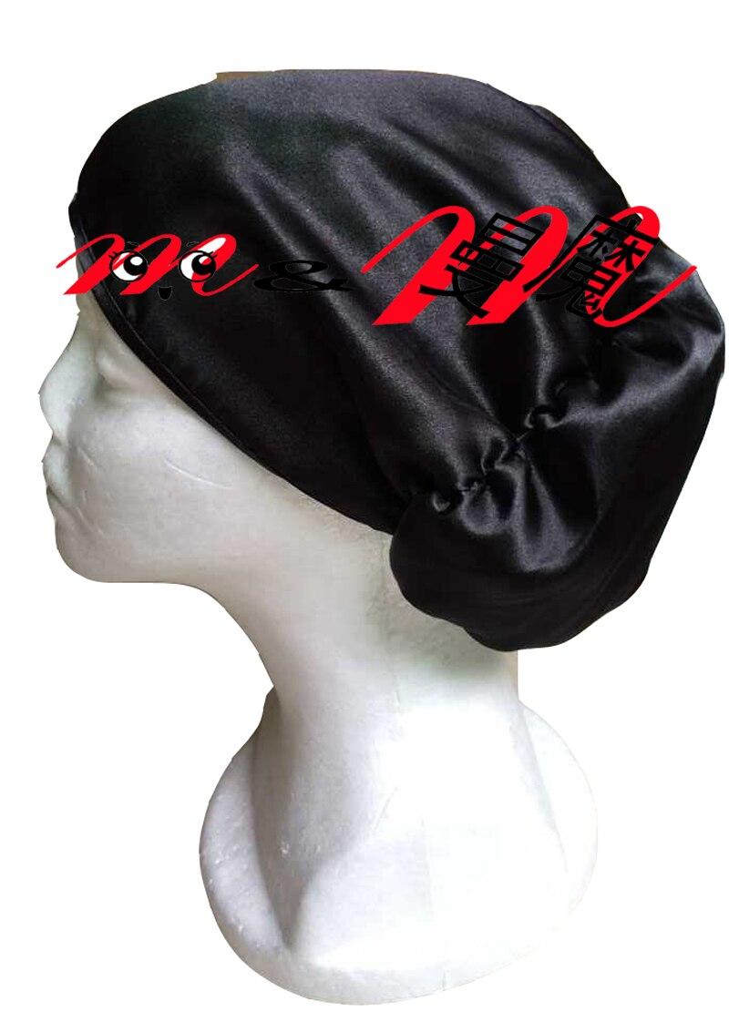 Fashion Solid color Satin Cap Satin Bun cap Sleep Cap   Skullies   and   Beanies