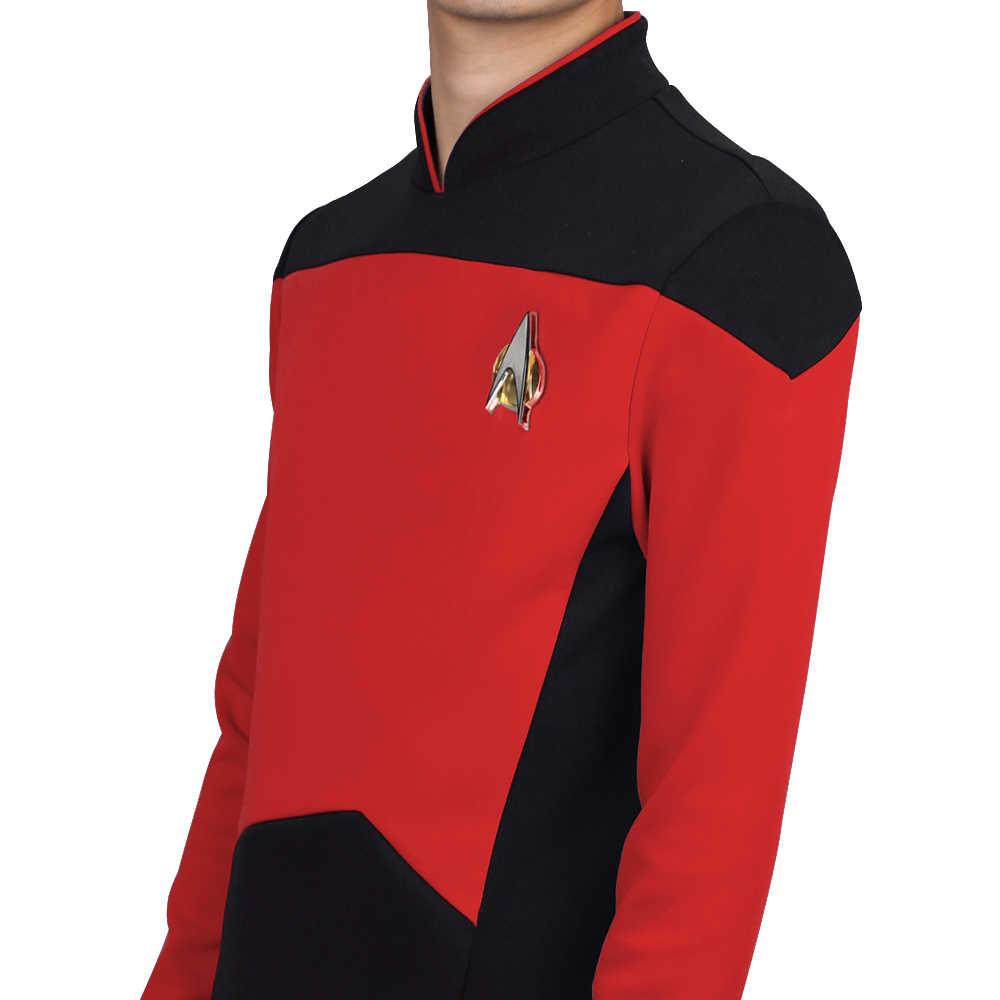 Star TNG The Next Generation Trek Red Shirt Uniform Cosplay Costume For Men Coat Halloween Party Prop|Movie & TV costumes| - AliExpress