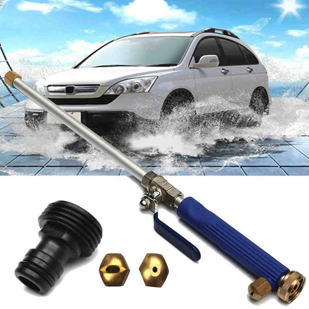 Legering Wassen Buis Slang Auto Hoge Druk Power Water Jet Washer Spray Nozzle Gun met 2 Spray Tips Cleaner Watering gazon Tuin