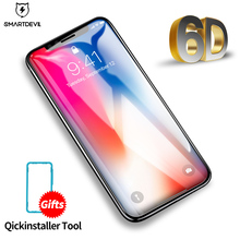 SmartDevil 6D Full Cover Tempered Glass for iPhone X Screen Protector Protective Film 10 on  2018