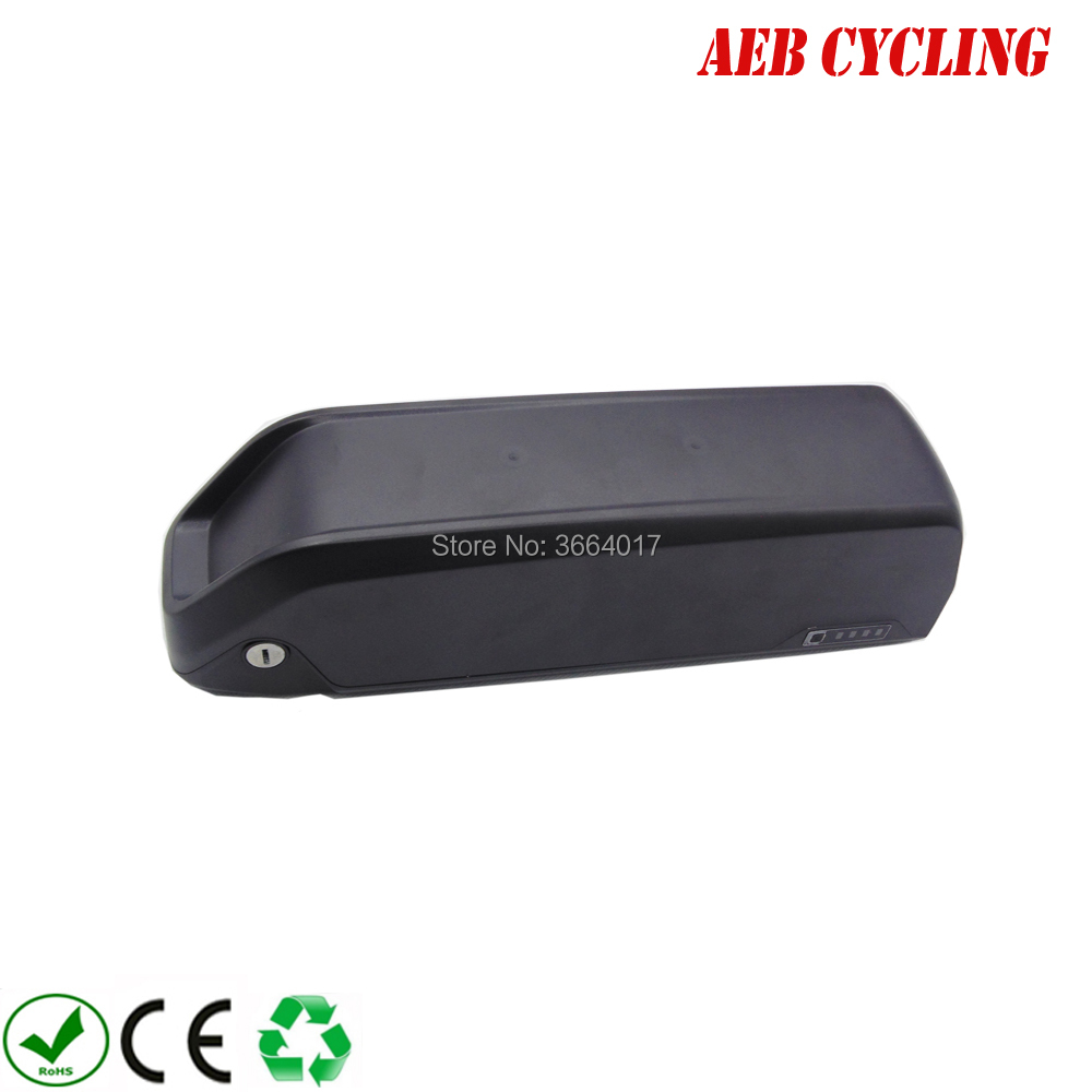 High power 52V shark down tube battery 52V 11.6Ah Lithium ion 52V high voltage electric bike battery pack for fat tire bike hailong down tube electric bike battery 48v 14ah lithium ion ebike battery pack with capacity display charger for fat tire bike
