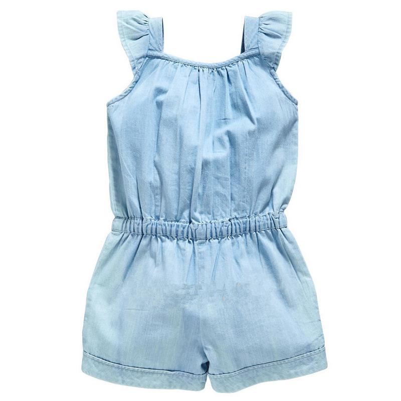 e1eea97d2a1 Toddler Kids Baby Girls Denim Jumpsuit Romper Playsuit Wash Skinny Legs  Girls Jeans Denim Overall Summer Clothes-in Overalls from Mother   Kids on  ...