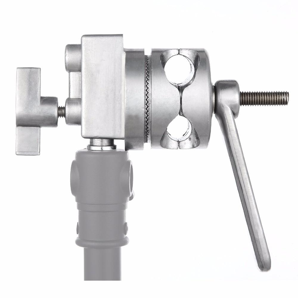 Meking 4-in-1 Full Metal Grip Head Long Handle For Boom Arm Extension Pole Cross Bar Light Stands Heavy Duty C-stands Stuido