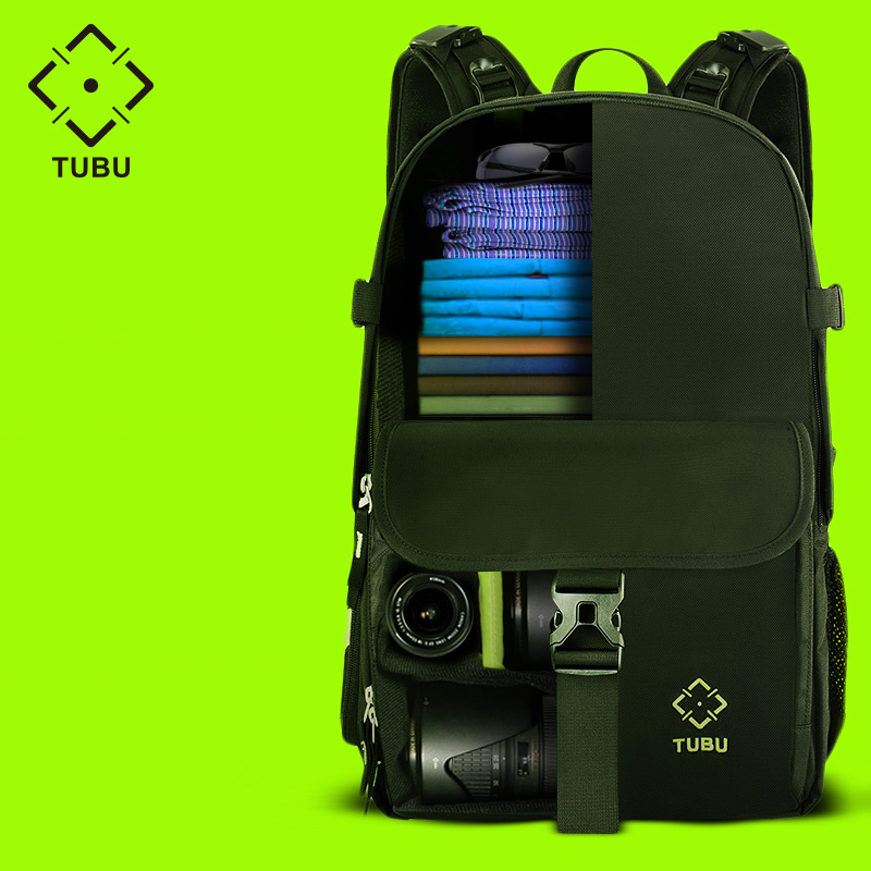 Tubu 6098 DSLR Camera Bag High Quality Backpack Professional Anti-theft Outdoor Men Women Backpack For Canon/Nikon camera high quality army green rucksack canvas backpack camera bag for nikon canon sony dslr camera