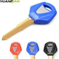 Motorrad schlüssel embryo blank key für yamaha R1 R6 mt09 MT 09 fz09 mt 07 fz07 mt07 MT03 mt 03 Uncut Klinge schlüssel chip mit LOGO-in Schlüsselrohlinge aus Kraftfahrzeuge und Motorräder bei