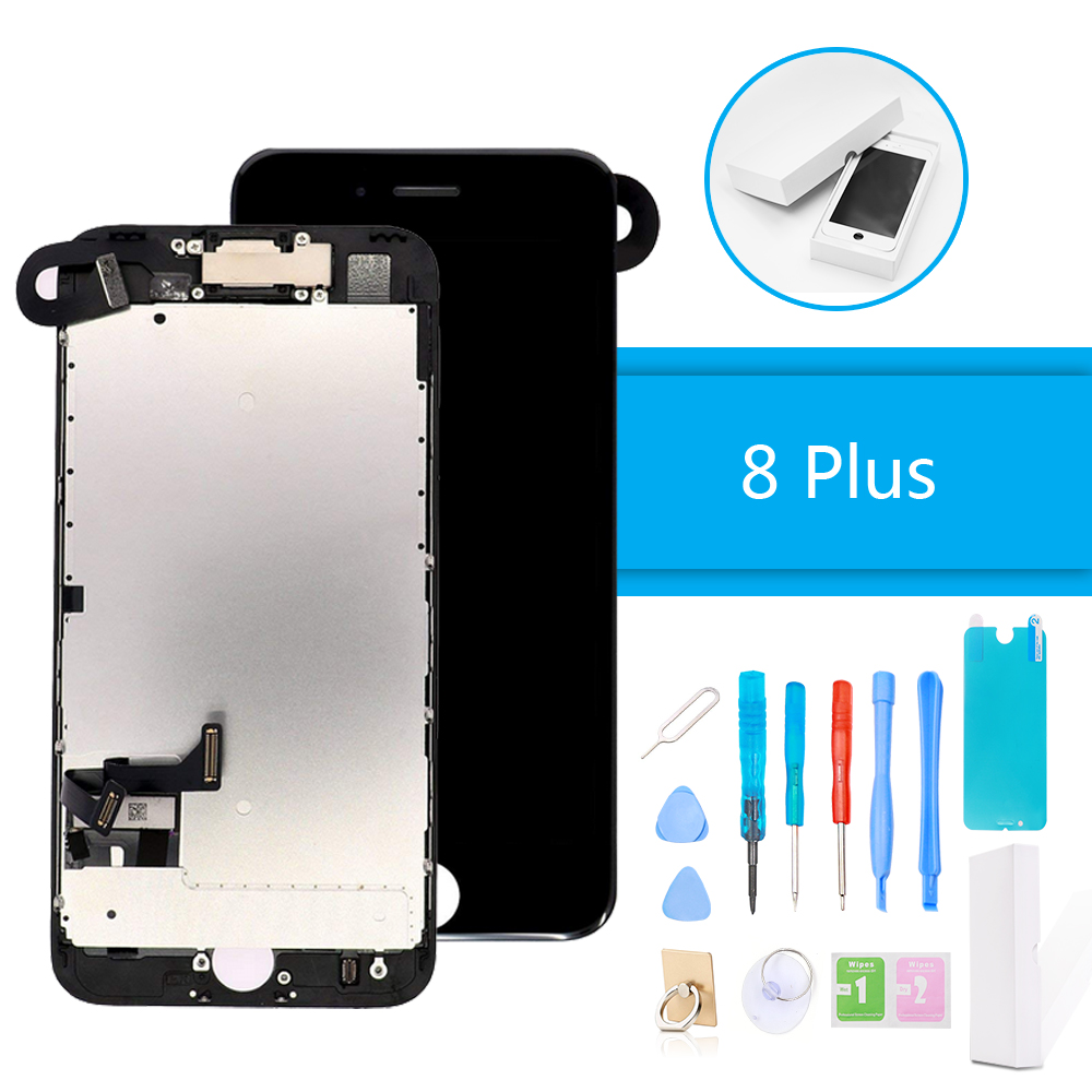 Luxury Suit LCD Display Digitizer Full Assembly for iPhone 8 Plus 3D Touch Screen Replacement Without Home Button + Repair Tools