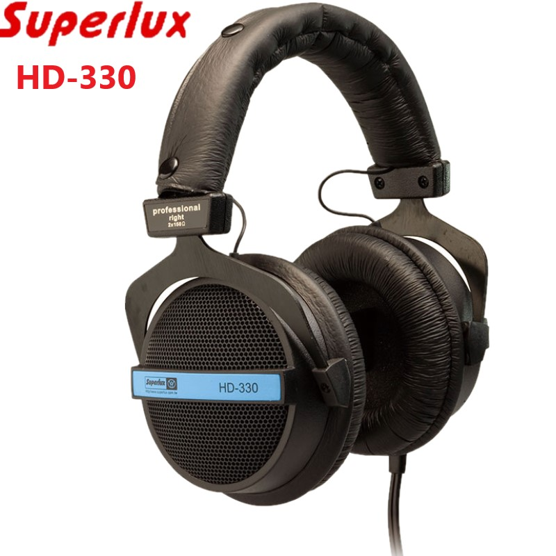 Superlux HD 330 audiophile HiFi stereo headphone semi open dynamic clear sound soft earmuff single sided