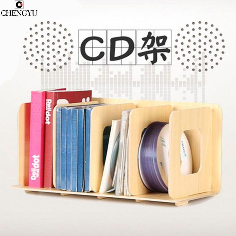 Modern Living Room Furniture CD Racks Wooden Storage Creative Display Shelves DVD Discs CD Storage Locker Box 34*16*16CM