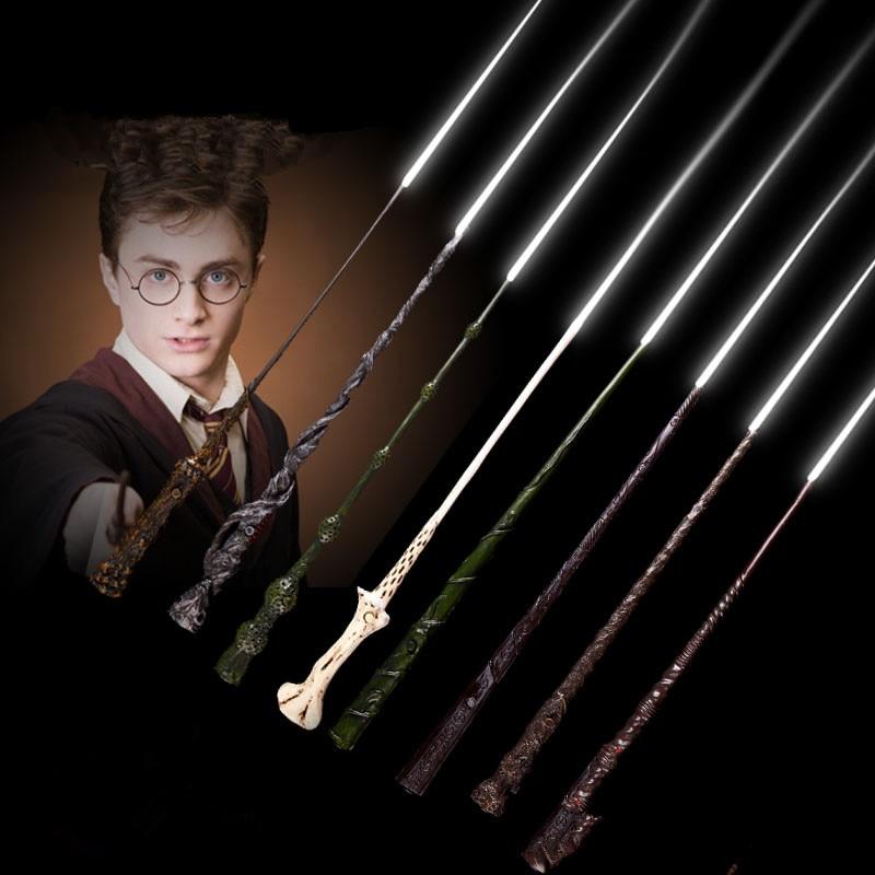 Caliente iluminación Led mágica varita de Harry Potter Ron Weasley Luna Hermione Voldemort magia varita mágica Cosplay juguetes al por mayor