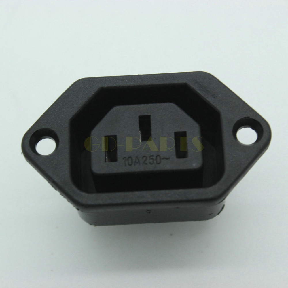 iec 320 female ac power socket jack connector receptacle. Black Bedroom Furniture Sets. Home Design Ideas