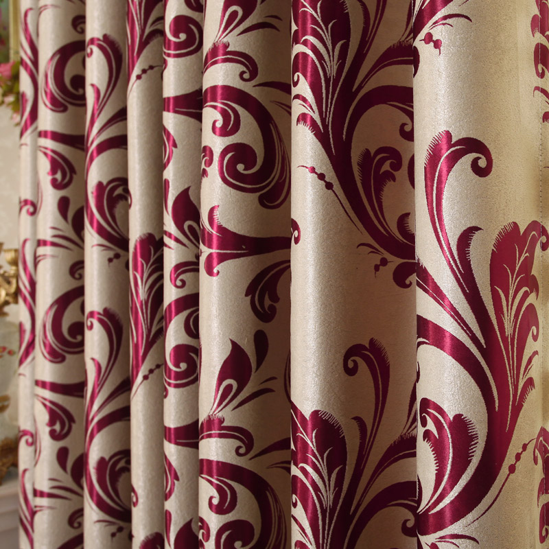 2018 New Curtains For Dining Living Bedroom Room High-class European-stylefaux Suede Window Shade Customization Beautiful