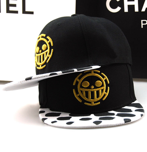 Wholesale Lots Anime One Piece Hat Baseball Cap Trafalgar Law Hats Cosplay Caps For Women Men Hip Hop Snapback Caps Flat Hats(China)