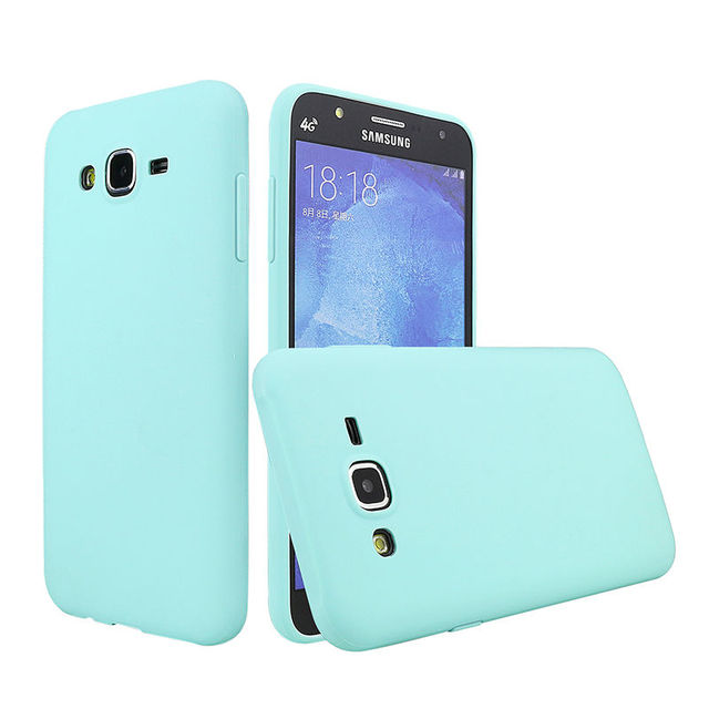 3771a5bbd18 Phone Case For Samsung Galaxy J7 2015 J700 Cover Solid Candy Color TPU Skin  Rubber Case