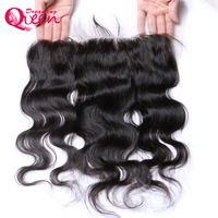 Brazilian Body Wave Lace Frontal With Baby Hair Pre-Plucked 13x4 Ear to Ear Lace Frontal Closure Dreaming Queen Remy Human Hair