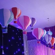 Rainbow Print Paper Lantern 30cm Hot Air Balloon Decoration Handmade  Children Bedroom Hanging Decoration(China