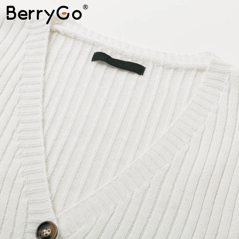 BerryGo Two-piece women knitted dress set Elegant autumn winter sweater dress suits Long sleeve button sashes female skirt suit 7