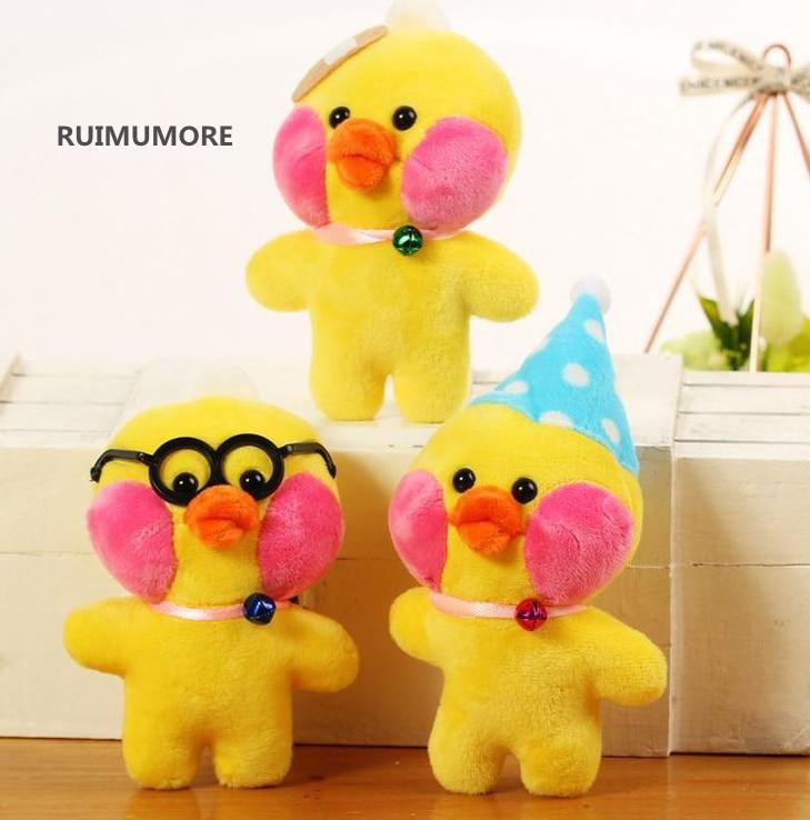 1 случайный дизайн, милая утка Meduim, 15 см, утки, плюшевая игрушка, подарок, утка, мягкое животное, плюшевые игрушки, куклы