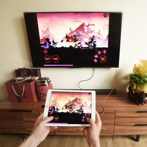 Image 5 - HOCO Per Apple spina hdmi AV Cavo Adattatore di Ricarica 8 pin a HDTV 1080 p Proiettore Monitor per il iphone 7 8 iPad convertitore