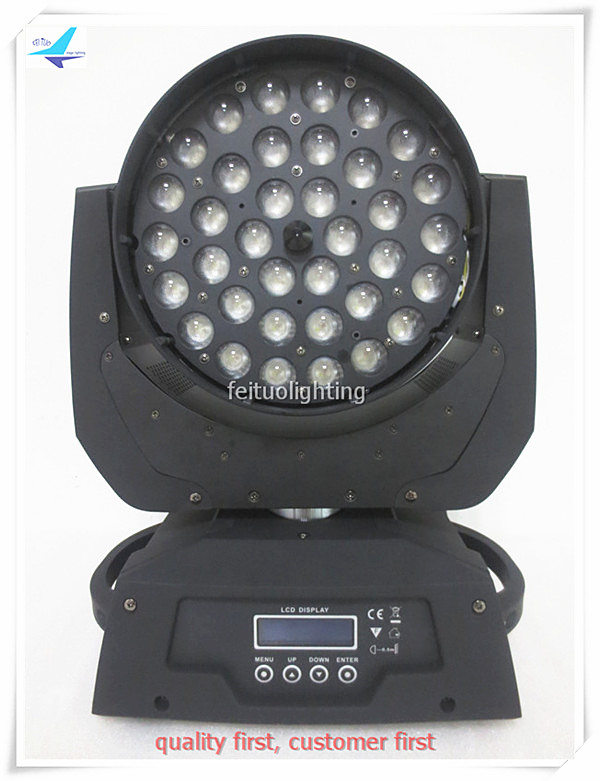 free shipping 16pcs/lot 36x15w ZOOM Stage Light RGBWA 5in1 Moving Head Wash Circle Effect Sound Active Party Show Disco Lumiere