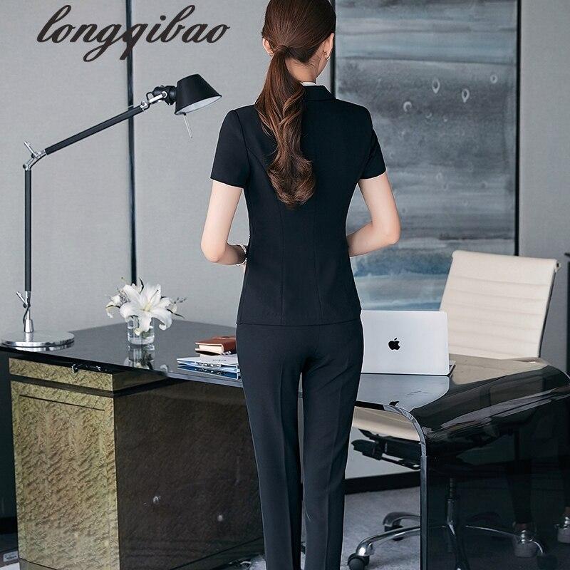 Lavoro Pezzo Top Formali 2 Formato Più 2 Carriera 1 Delle Casuale Modo Elegante Donne Estate Tb 4 3 Abiti Pantaloni Lady Office Di Del Usura Set E I6qfFaxP