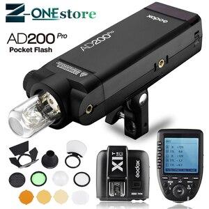 Image 1 - Đèn Flash Godox AD200pro 200Ws Ngoài Trời Sáng AD200 PRO Bỏ Túi Sáng cho Sony Nikon Canon Fuji TTL HSS 2.4G không dây X Hệ thống