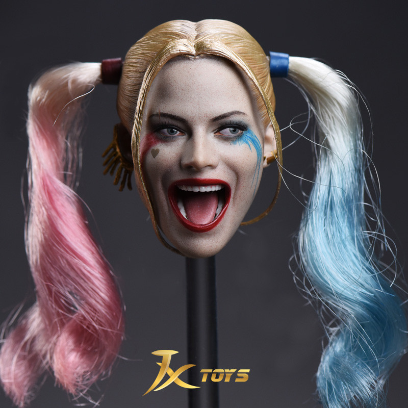 1/6 Scale JX-012 Suicide Squad Harley Quinn Double Braid Sub Head Sculpt for 12inch Action Figure DIY Toy1/6 Scale JX-012 Suicide Squad Harley Quinn Double Braid Sub Head Sculpt for 12inch Action Figure DIY Toy