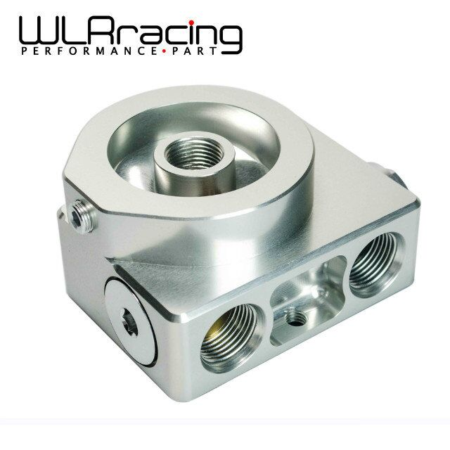 ФОТО WLR STORE-  Oil Filter Sandwich Adaptor For High quality Oil filter remote block with thermostat 1xAN8 4xAN10 ORB FEMALE PQY6744