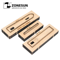 ZONESUN 26 24 Customized leather cutting die Leather DIY Craft supply watchband strap Wooden Template Punch cut steel rule die
