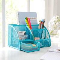 Office Desk Tidy Organiser Set Storage Box Zakka Iron Pill Tea Coin Storage Square Box Free