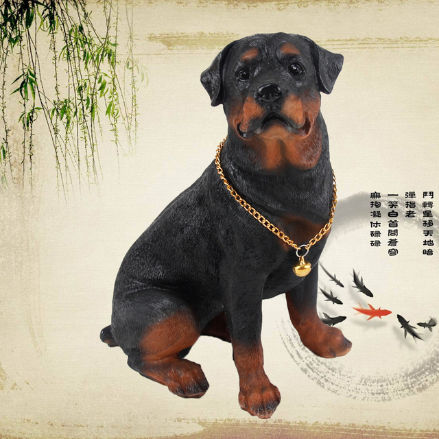 Free Shipping Rottweiler Dog Ornaments Garden Ornaments Simulation