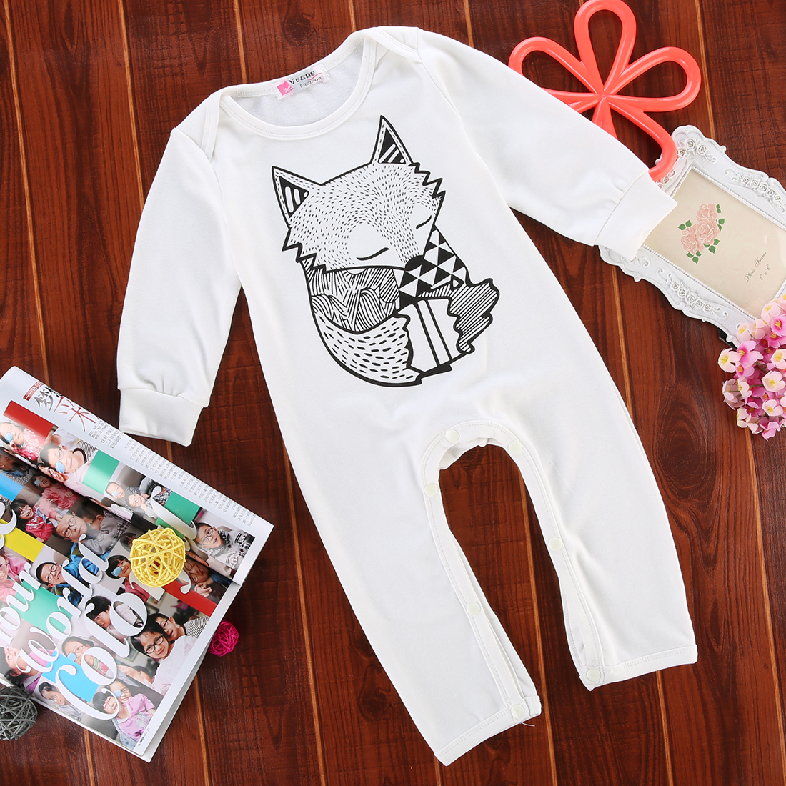 Newborn Infant Baby Girls Boy Fox   Romper   Playsuit Outfits Clothes 0 to 24 Month